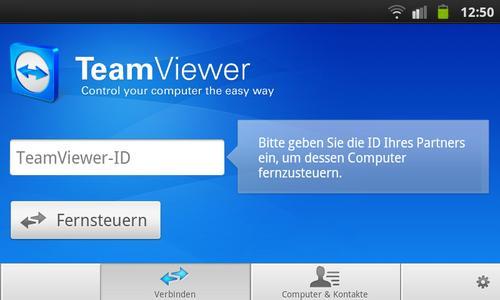 Screenshot TeamViewer Android App (www.teamviewer.com)
