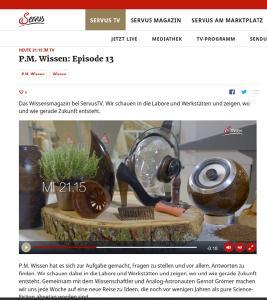 TV-Tipp: Servus TV zu Besuch bei TECNARO in Ilsfeld