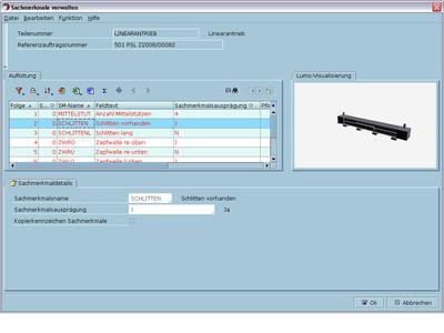 Varianten visualisiert: Eines der leistungsstarken Features der ERP-Lösungen von oxaion ist der Variantengenerator. Hinterlegte Sachmerkmale werden zum Beispiel in realitätsnahe 3D-Grafiken umgewandelt.