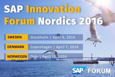 SAP Nordics Innovation Forum 2016