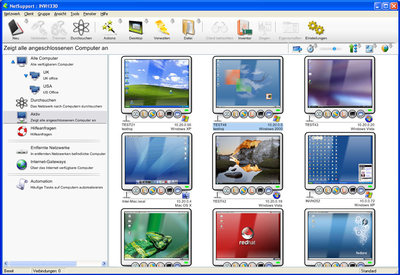 Thumbnail Monitoring wichtiger Systeme in netSupport Manager