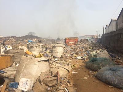 Müllhalde mit Sammlungen der Wastepicker