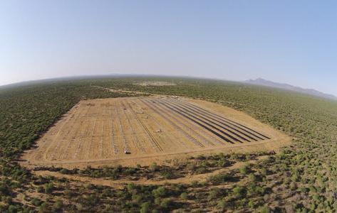 Omburu plant aerial view
