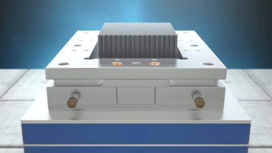 Das Fleximould-System von DEMCON ermöglicht mit der Pinforming-Methode die au-tomatisierte und flexible Erstellung von Tiefziehformen