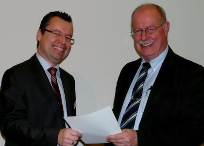 Gerhard Zehethofer, Regional Director Wind River (left) and Wolfgang Heinz-Fischer, Head of Marketing and PR TQ-Group