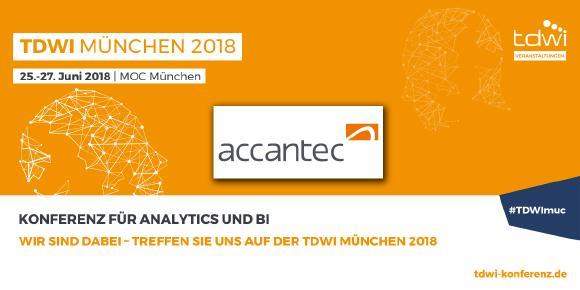 Besuchen Sie unseren Stand auf der diesjährigen TDWI Konferenz München