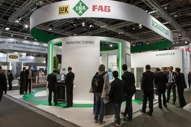 "At InnoTrans 2014 (September 23 – 26) in Berlin, Schaeffler is presenting its products and services in keeping with its motto for this trade show ""360° lifecycle management – from development to reconditioning"" / Image: Schaeffler"