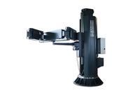Komplett eingefahren ist der Teleskopmast mit Faltausleger platzsparend