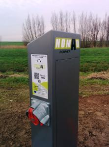 NomadPower ist eine Stromversorgung des Kühlaggregats während der Ruhepausen auf dem Rast-/Autohof