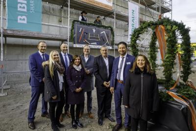 B. Braun-Werk Pharma feiert Richtfest in Berlin / Bildnachweis: B. Braun Melsungen AG/Thomas Rosenthal