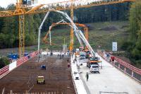 Die Großbaustelle an der A44 musste nahtlos mit Beton beliefert werden.