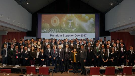 The fourth joint Continental and Schaeffler Premium Supplier Day. Six companies were given Premium Supplier status and are now part of the Premium Supplier Circle