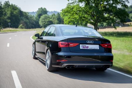 In Verbindung mit den Seriendämpfern im Audi S3 wird durch die KW Gewindefedern ein harmonisches und direktes Fahrverhalten realisiert.