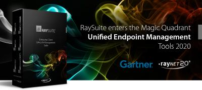 Gartner honors Raynets RaySuite in the Magic Quadrant Unified Endpoint Management Tools 2020