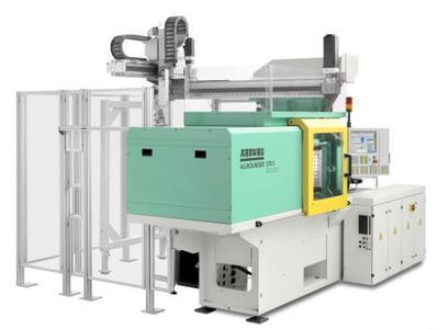 Blickfang: Dassault Systèmes stellt auf der Hannover Messe funktionsfähige Kunststoff-Spritzgießmaschine von ARBURG aus
