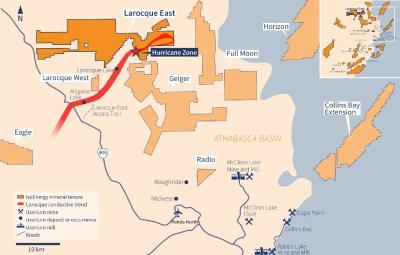 IsoEnergy Drills 48.8% U3O8 over 5.0m in  Southern Step-out Drill Hole LE20-64