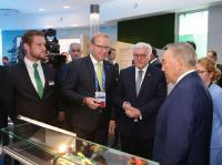 Federal President Steinmeier visits Schaeffler in the German Pavilion at the EXPO in Astana