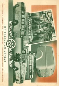 Karosserie Wankmiller baute von 1929 bis 1974 Omnibusse, Bildquelle: Wirtschaftsarchiv Baden-Württemberg
