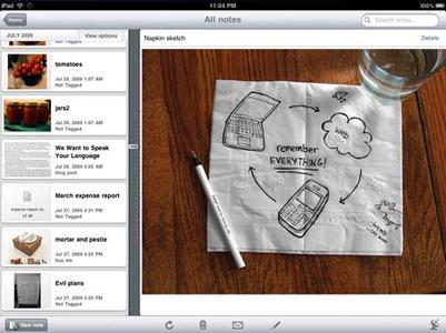 Evernote gibt es jetzt auch für das iPad