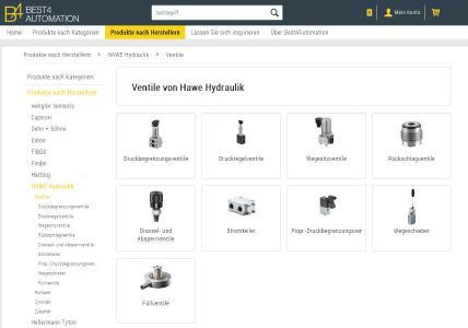 Hydraulikventile von HAWE Hydraulik auf Online-Plattform Best4Automation