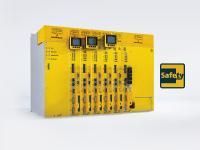 Die neue Generation der b maXX 5300 Anreihtechnik ist kompakt, mit skalierbaren Sicherheitsfunktionen, die über Hardware-I/Os bzw. über Ethercat FSOE ansteuerbar sind