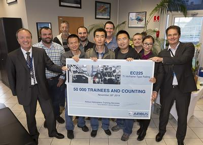 50,000 trainees in 50 years: Airbus Helicopters Training Services reaffirms its commitment to safety