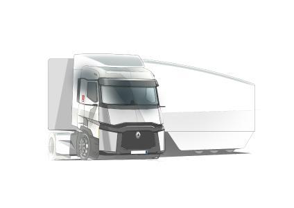 : Renault Trucks entwickelt mit dem Falcon Projekt einen Komplettzug, der 13 Prozent weniger Kraftstoff als ein Standardzug verbrauchen soll