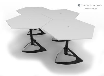 Honeycomb Dlite - Höhenverstellbarer Steh-Sitz-Tisch für eine variable Arbeitshaltung