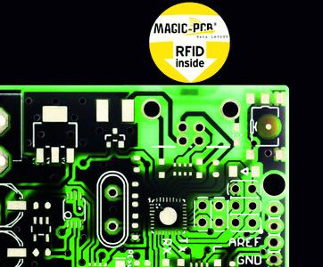 RFID-Chip inside - identifiable and traceable printed circuit board