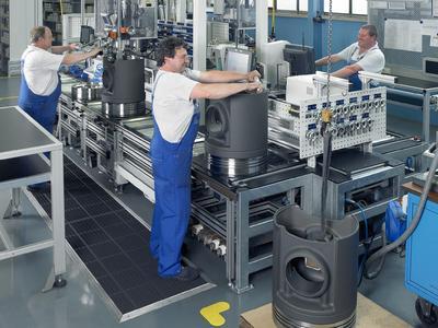 KS Kolbenschmidt GmbH Produktion von Großkolben