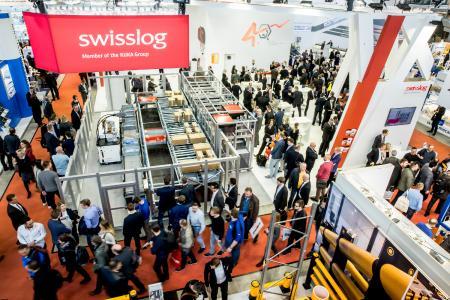 LogiMAT 2017 Messestand Swisslog Original