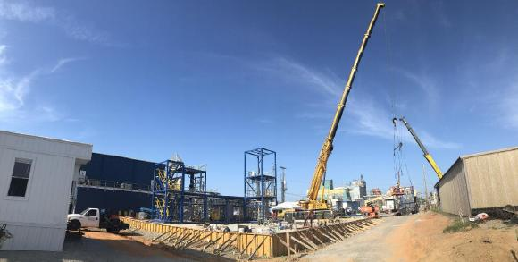 Figure 1. Building demonstration plant at Lanxess Project site