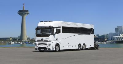 High-End Landyacht VARIO SIGNATURE 1200 MB ACTROS 2553 LLL. PKW-Garage. Slide Out.