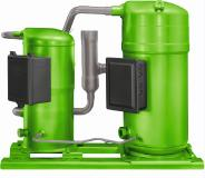 The BITZER ORBIT range of scroll compressors is a true refrigerant all-rounder (here: uneven tandem)