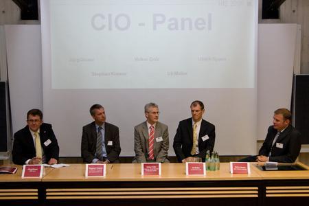 CIO-Panel auf der HIS-Tagung