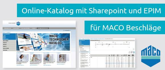 Technischer Online-Katalog für MACO-Beschläge