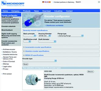 Wachendorff: Intelligent encoder configurator with instant recall