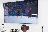 Virtual Reality unterstützt bei der Fabrik- und Logistikplanung © Fraunhofer IIS/Paul Pulkert