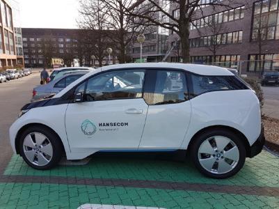 Erster elektrischer Dienstwagen für HANSECOM