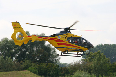 Eurocopter delivers the first of 23 EC135s ordered by Poland's health ministry in June 2008