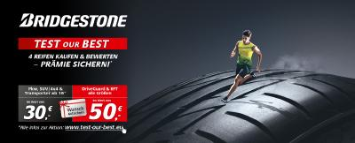 "Bridgestone startet Endverbraucher-Aktion ""TEST OUR BEST"""