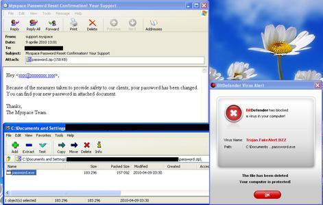 BitDefender warnt: Malware Spam-Wellen bedrohen Facebook- und MySpace-User