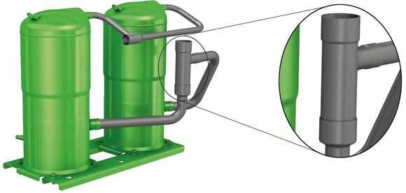 New patent-pending BITZER Advanced Header Technology (BAHT) for uneven scroll compressor tandems and trios offers game-changing opportunities for OEMs designing their next-generation systems.