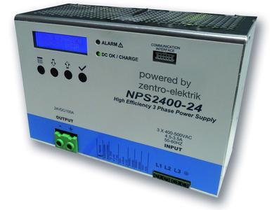 2400Watt DIN Rail Power Supply, >150% overload capability