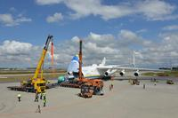 Leipzig/Halle Airport: Antonov AN 225 transports gas cooler weighing 141 tonnes to Canada