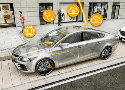 The in-car server: A central computer facilitating comfort and information functions. The computer performs a range of tasks including secure, wireless updates, remote maintenance and offers protection against cyberattacks / Picture: © Continental AG