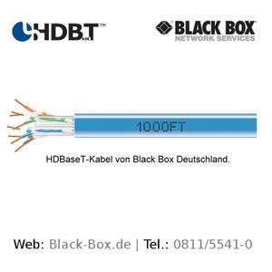 HDBaseT-Kabel für HDBaseT-Netzwerke von Black Box Deutschland.