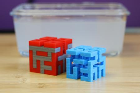 3D-Druck in Farbe mit auswaschbaren Stützmaterial