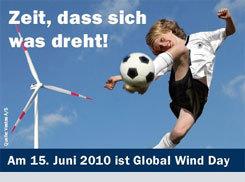 Global Wind Day 2010 in Deutschland ist Partner des Wissenschaftsjahrs 2010