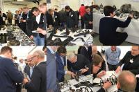Projektteilnehmer während des Hands-On-Workshops Massiver Leichtbau im Januar 2018 in Aachen.